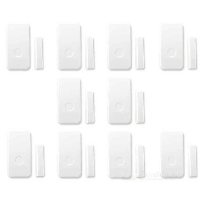 Wireless Door Magnetic Sensors Wireless Button Alarm System - White