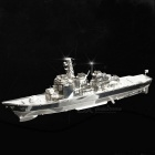 DIY Puzzle 3D Assembled Shipship Destroyer Model Toy - Silver