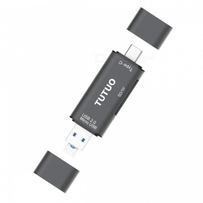 Tutuo 5 in 1 USB OTG Card Reader TF/SD Hub Type-C Adapter for MACBOOK