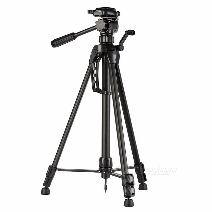 WT3540 Aluminum Alloy Tripod Universal for Canon Nikon DSLR CameraBinoculars And Telescopes<br>Form  ColorBlackModelWT3540Quantity1 DX.PCM.Model.AttributeModel.UnitMaterialAluminium alloyBest UseFamily &amp; car camping,Camping,Travel,CyclingFeatureOthersMagnificationOthersObjective DiameterNoEye ReliefnoPacking List1 * Aluminum Tripod1 * Protable Carrying Bag1 * Chinese User Manual<br>