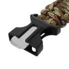 Durable Outdoor Emergency Survival Woven Armband w / Whistle + Compass