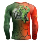 3D Printing Fast-Drying Long-Sleeved Tight-Fitting Male T-shirt (XL)