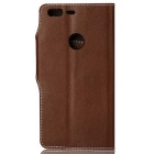 Cow Split Leather Case w/ Card Slots for Google Pixel - Deep Brown