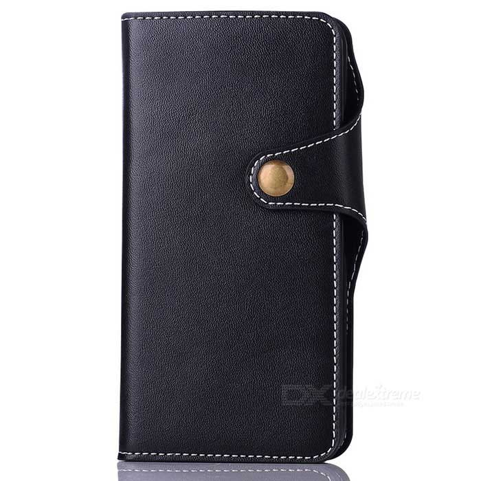 Cow Split Leather Case w/ Card Slots for Google Pixel XL - Deep Blue