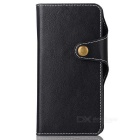 Cow Split Leather Case w/ Card Slots for Google Pixel XL - Black