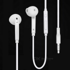 3.5mm Plug Stereo Bass Earphone w/ Microphone - White