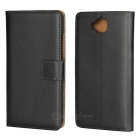 Protective Full Body Split Leather Case for Huawei Y6 Pro - Black