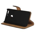 Protective Full Body Split Leather Hard Case for Google Pixel - Black