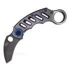 Outdoor Sports Camping Stainless Steel Folding Knife - Color Titanium