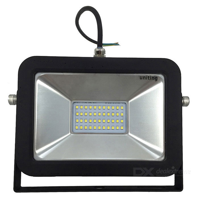 Uniting IP65 20W 44-LED 2835 Cold White Flood Light (AC 100-240V)Floodlights<br>Form  ColorBlackColor BINCool WhiteMaterialAluminum + GlassQuantity1 DX.PCM.Model.AttributeModel.UnitWaterproof LevelIP65Power20WRated VoltageAC 100-240 DX.PCM.Model.AttributeModel.UnitConnector TypeOthersChip BrandEpistarChip Type2835Emitter TypeLEDTotal Emitters44Theoretical Lumens2000 DX.PCM.Model.AttributeModel.UnitActual Lumens2000 DX.PCM.Model.AttributeModel.UnitColor Temperature6000KDimmableNoBeam Angle120 DX.PCM.Model.AttributeModel.UnitPacking List1 * 20W Floodlight (Cool White)1 * Box<br>