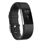 Fitbit Charge2 Heart Rate+Fitness Wristband, Black, Large