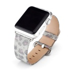 Leopard Pattern Leather Watchband w/ Attachment for APPLE WATCH 38mm