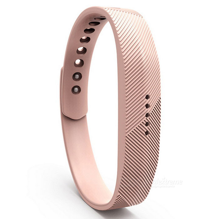 Replacement Smart Bracelet Wristband for Fitbit Flex 2 - KhakiWearable Device Accessories<br>Form  ColorKhakiQuantity1 DX.PCM.Model.AttributeModel.UnitMaterialSiliconePacking List1 * Wristband<br>