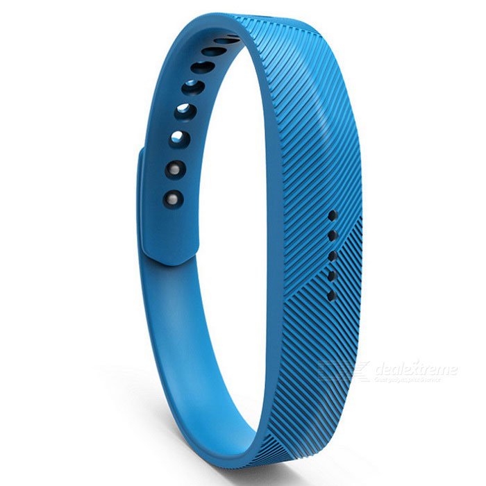 Replacement Smart Bracelet Wristband for Fitbit Flex 2 - Sky BlueWearable Device Accessories<br>Form  ColorSky BlueQuantity1 DX.PCM.Model.AttributeModel.UnitMaterialSiliconePacking List1 * Wristband<br>