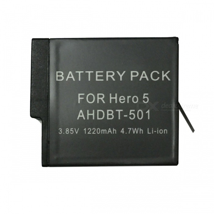 Ismartdigi 3.85V 1220mAh 4.7Wh Camera Battery for Gopro Hero 5 - Black