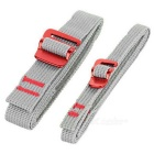 NatureHike Outdoor Nylon Bundling Belt Strap Webbing w / Quick Release Buckle - Cinza