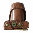 Protective Crazy Horse Leather Camera Case for FujiFilm XA3 - Coffee