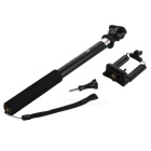 S168L Retractable Handheld Selfie Rod w/ for GoPro / Phones - Black