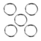 Mini Stainless Steel Diameter 12mm Keychain Key Ring - Silver (5 PCS)