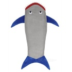 OLDSHARK Shark Style Polyester Blanket - Gray + Deep Blue