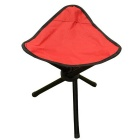 AoTu AT6708 Three-Legged Outdoor Fishing Portable Folding Stool - Red