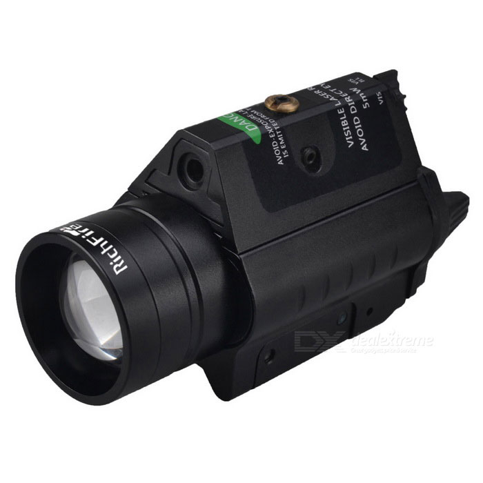 RichFire SF-P31 Green Waterproof Laser Range Finder Rifle Gun Scope w/ CREE XPG2 S4 FlashlightGun Scopes &amp; Sights<br>Form  ColorBlackModelSF-P31MaterialAluminum alloyQuantity1 pieceGun Type20mm Gun railMount TypeWeaverLaser Power5 mWLaser Wavelength532nmLaser Reaching Range500-800mLaser ColorGreenCertificationCE, RoHSOther FeaturesBrightness: 300lmPacking List1 * Laser Flashlight2 * CR123A Batteries2 * Hexagon wrenches (big&amp;small of each one)1 * English user manual<br>