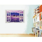 Removable DIY 3D Landscape PVC Wall Sticker - Purple + Multicolor