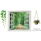Removable DIY 3D Landscape PVC Wall Sticker - Green + Multicolor