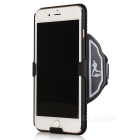 Outdoor Sport PU Wristbands w/ Case Cover for IPHONE 7 PLUS - Black