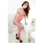Sexy Hollow Out Mesh Sling Lingerie Bodystocking - Deep Pink