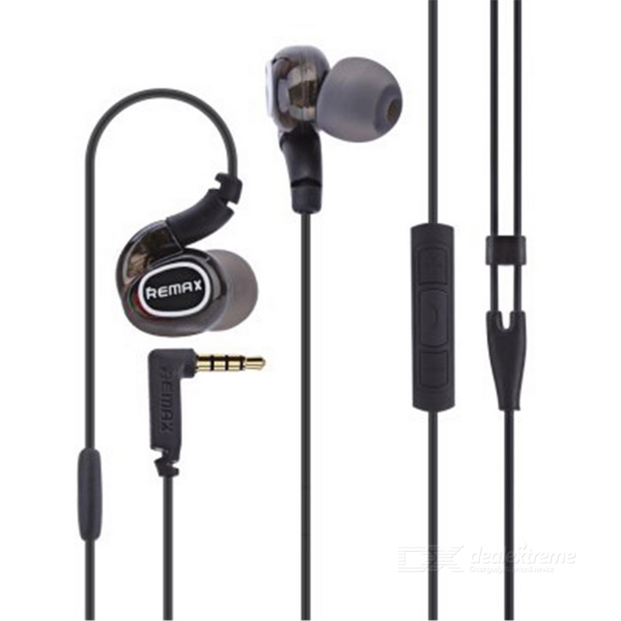 REMAX S1 Pro HIFI In-Ear Wired Sports Earphone w/ Mic - Black