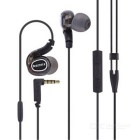 Universal 3.5mm Plug Wired Sport Earphone w/ Microphone + Volume Control for Android and iOS Phone