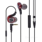 REMAX S1 Pro HIFI In-Ear Wired Sports Earphone w/ Mic - Black + Red