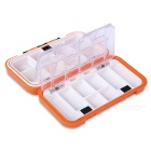 EDCGEAR Portable 2-Side 16 Compartments Water Resistant Fish Bait Box