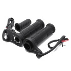 QooK Universal Motorcycle Motorbike Handlebar Heated Grips Set - Black