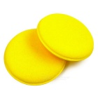 ZIQIAO Anti-Scratch 10cm Car Cleaning Wax Sponges - Yellow ( 2PCS )