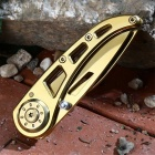 Outdoor Camping Multifunction Stainless Steel Knife - Gold