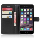 PU Leather Wallet Cases w/ Card Slots for IPHONE 7 Plus - Black