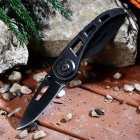 Outdoor Camping Multifunction Stainless Steel Knife - Black