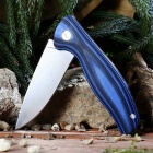 Outdoor Multi-function Folding High Hardness Camping Knife - Blue