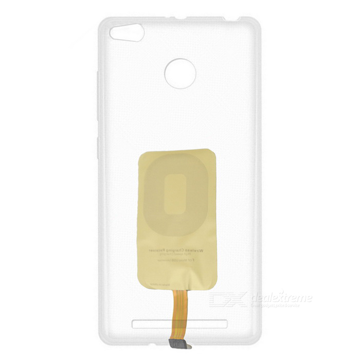 Protective Back Case w/ Wireless Charger Receiver for Xiaomi Redmi 3S