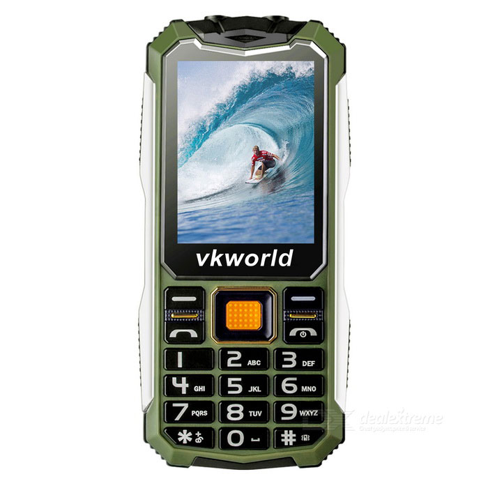 "vkworld v3s Long Standby 2.4"" GSM Phone w/ 0.3MP Camera - Army Green"
