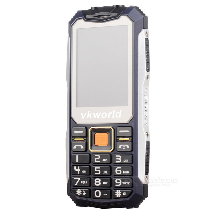 "vkworld v3s Long Standby 2.4"" GSM Phone w/ 0.3MP Camera - Dark Blue"
