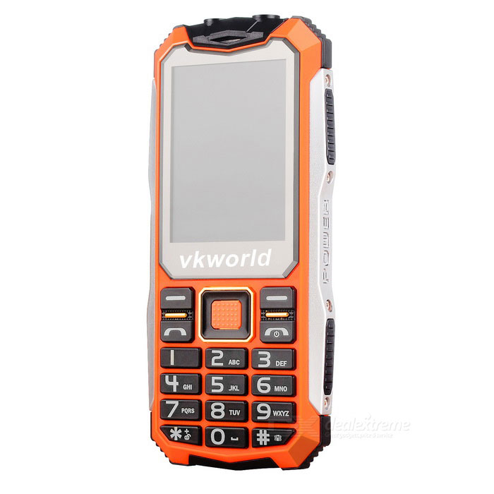 "vkworld v3s Long Standby 2.4"" GSM Phone w/ 0.3MP Camera - Orange"