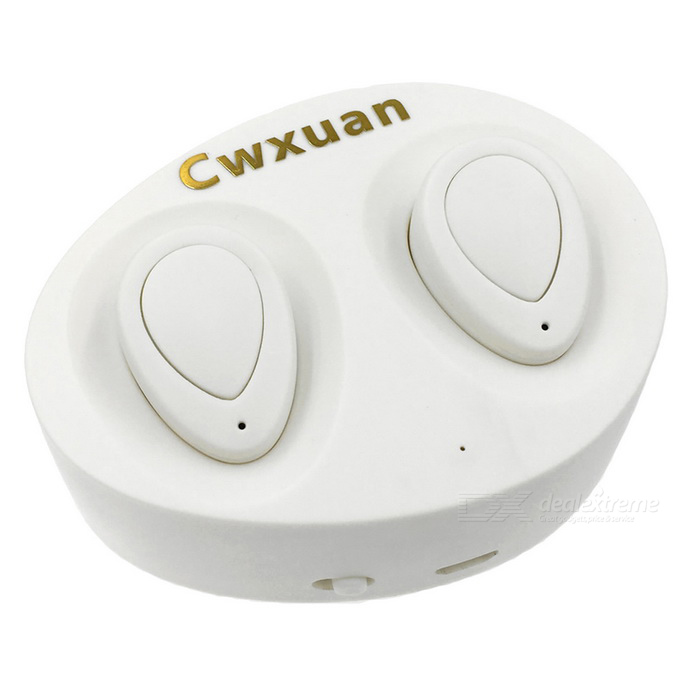 Cwxuan TWS-K2 Mini In-ear Stereo Bluetooth Headset - Ivory White