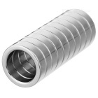 JEDX 20mm Round Shaped Magnetic NdFeB Magnets - Silver (10 PCS)
