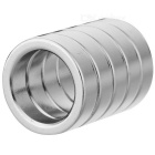 JEDX 19mm Round Shaped Magnetic NdFeB Magnets - Silver (5 PCS)