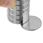 JEDX 20mm Round Shaped Magnetic NdFeB Magnets - Silver (5 PCS)