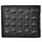 JIN BAO LAI Cool Alligator Skin Pattern Men's Leather Wallet - Black