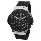 MN3002GBK-1 Silicone Band Alloy Case Luxury Sport Watch